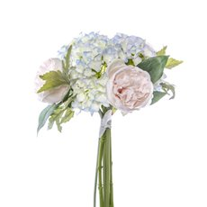 Other Artificial Bouquets - Penny Peony Hydrangea Bouquet Pink Blue (35cmH)