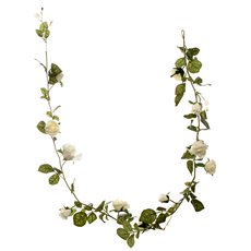 Artificial Roses - Louisa Rose Garland Cream (180cm)