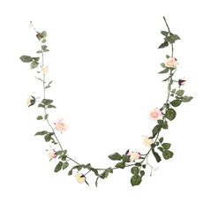 Artificial Roses - Louisa Rose Garland Pink (180cm)