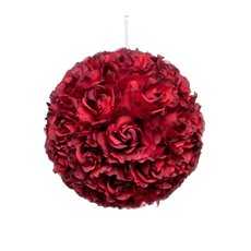 Lavina Rose Ball Red (12in/30cmD)