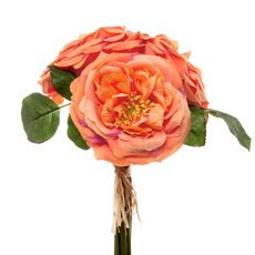 Garden Rose Bouquet Orange (29cmH)