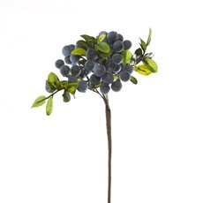 Artificial Berries - Berry Cluster Spray Blue (35cmH)