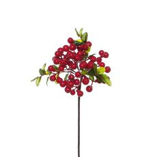 Artificial Berries - Berry Cluster Spray Red (35cmH)