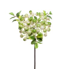 Artificial Berries - Berry Cluster Spray Green White (35cmH)