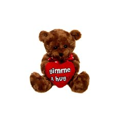Gimme a Hug Teddy Bear with Heart Brown (20cmST)