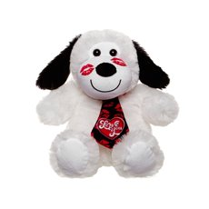 Ronnie Dog with Tie White with Heart (20cmST)