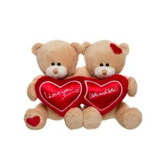 Sweetheart Teddy Bear Pair Brown (15cmST)