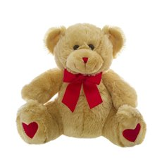 Bobby Valentine Teddy Bear Brown (25cmST)