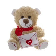 Ruby Teddy Bear with Letter Brown (25cmST)