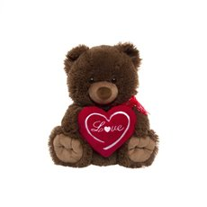 Harry Teddy Bear with Heart Love Dark Brown (25cmST)
