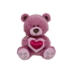 Candy Teddy Bear with Heart Pink (28cmST)
