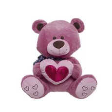 Candy Teddy Bear with Heart Pink (40cmST)
