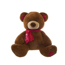 Ralph Teddy Bear with Scarf Brown (52cmST)