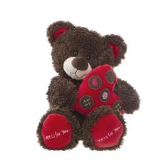 Johnny Teddy Bear with Heart Chocolate (30cmST)