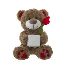 Florence Teddy Bear with Vase Beige (25cmST)