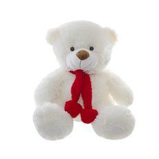 Cuddles Teddy Bear with Hearts and Scarf White (42cmST)