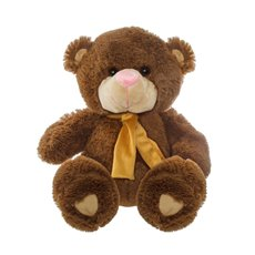 Teddytime Teddy Bears - Buddy Teddy Bear with Yellow Scarf Brown (42cmST)