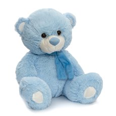 Buddy Teddy Bear with Scarf Blue (42cmST)