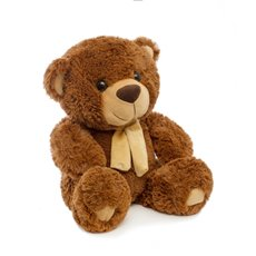 Buddy Teddy Bear with Scarf Brown (42cmST)