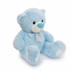 Buddy Teddy Bear with Scarf Blue (52cmST)