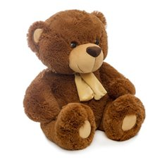 Teddytime Teddy Bears - Buddy Teddy Bear with Scarf Brown (52cmST)