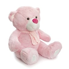 Giant Teddy Bears - Buddy Teddy Bear with Scarf Baby Pink (60cmST)