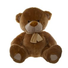Giant Teddy Bears - Buddy Teddy Bear with Scarf Brown (60cmST)