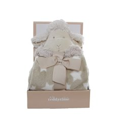 Shaun Sheep Gift Pack with Blanket Beige (25cmH)