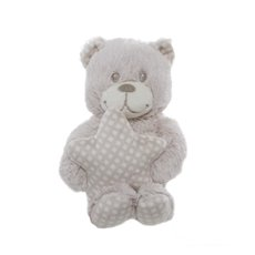 Tilly Teddy Bear With Star Beige (24cmHT)