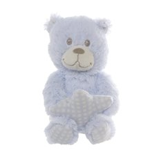 Tilly Teddy Bear With Star Blue (24cmHT)