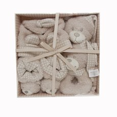 Alexandra Teddy Bear Gift Set 4PC Beige