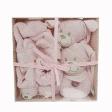 Alexandra Teddy Bear Gift Set 4PC Pink