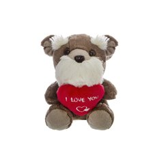 Scotty Dog with Heart Grey (14.5cmST)