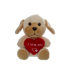 Buddy Dog with Heart Beige (14.5cmST)
