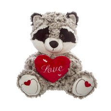 Rick Racoon with Heart Love (23cmST)