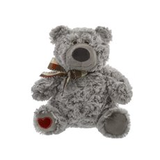 Tim Teddy Bear Heart on foot Grey (21cmST)