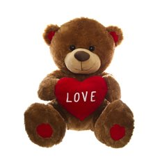 Cuddles Teddy Bear With Heart Brown (52cmST)