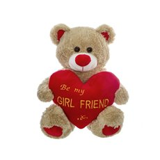 Gabby Teddy Bear Be My Girlfriend Brown (33cmST)