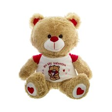Roberto Teddy Bear with T-Shirt Be My Valentine (32cmST)