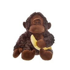 Jungle Animal Soft Toys - Ben Monkey with Banana (29cmST)