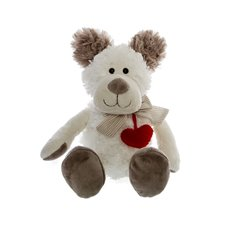 Henry Teddy Bear With Hanging Heart Cream (19cmST)