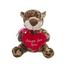 Lenny Leopard with Heart (25cmST)