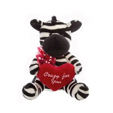Zane Zebra with Heart (25cmST)