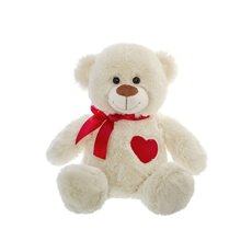 Lucy Teddy Beart with Heart Patch  (23cmST)