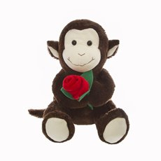 Monkey with Rose Chocolate  (25cmST)