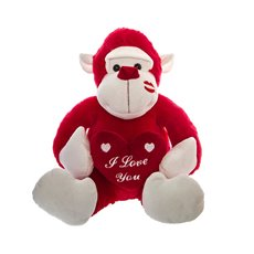 Gazza Gorilla  I Love you Red (30cmST)