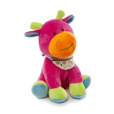 Baby Animal Soft Toys - Bright Giselle Giraffe Hot Pink (22cmST)