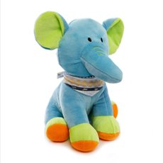 Baby Animal Soft Toys - Bright Elle Elephant Blue (22cmST)