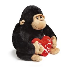 Valentines Teddy Bears - Mac Gorilla with Heart Black (32cmST)
