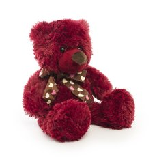 Teddytime Teddy Bears - Dee Bear with Scarf Red (20cmST)